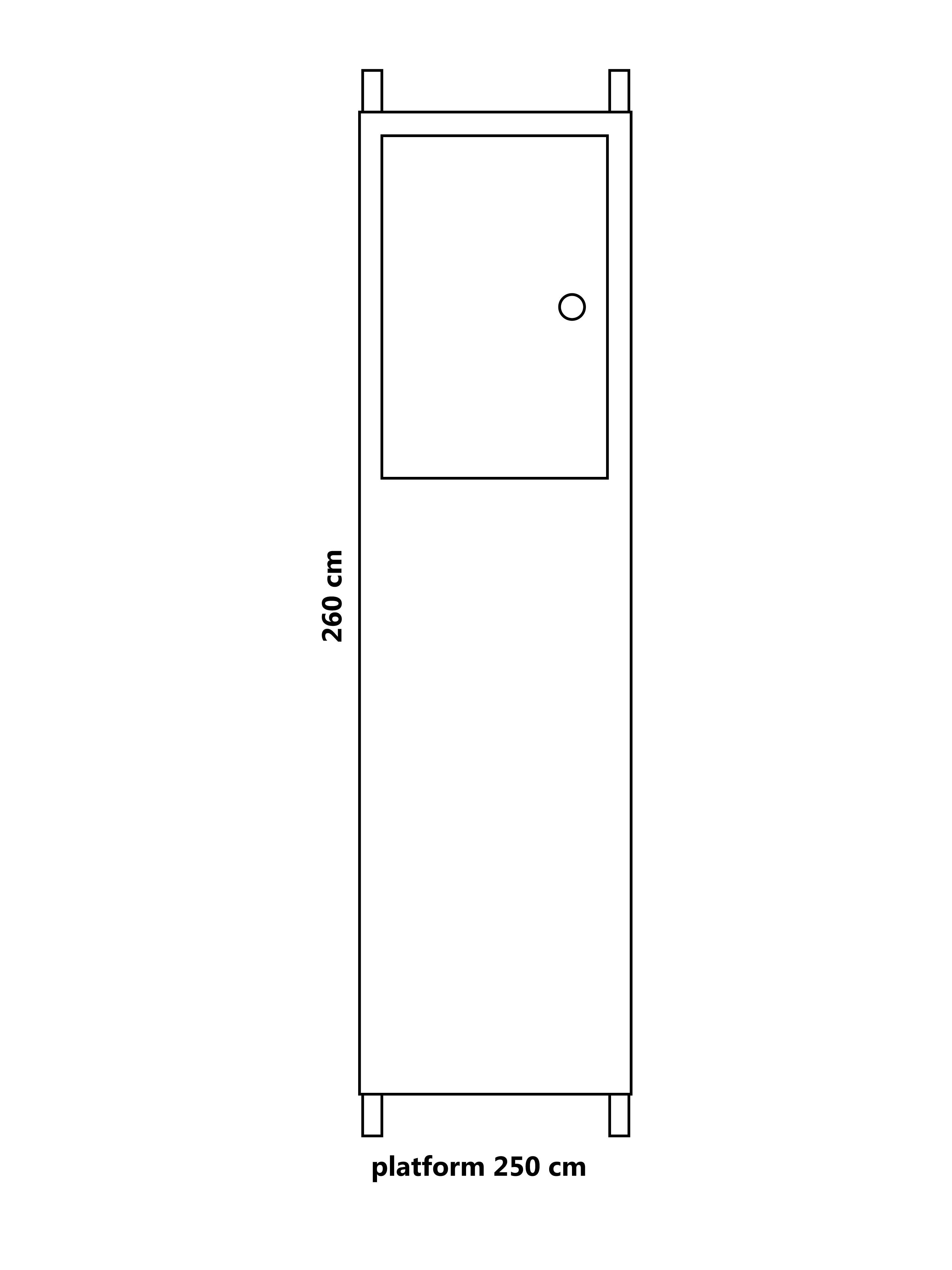Steiger platform 250 cm