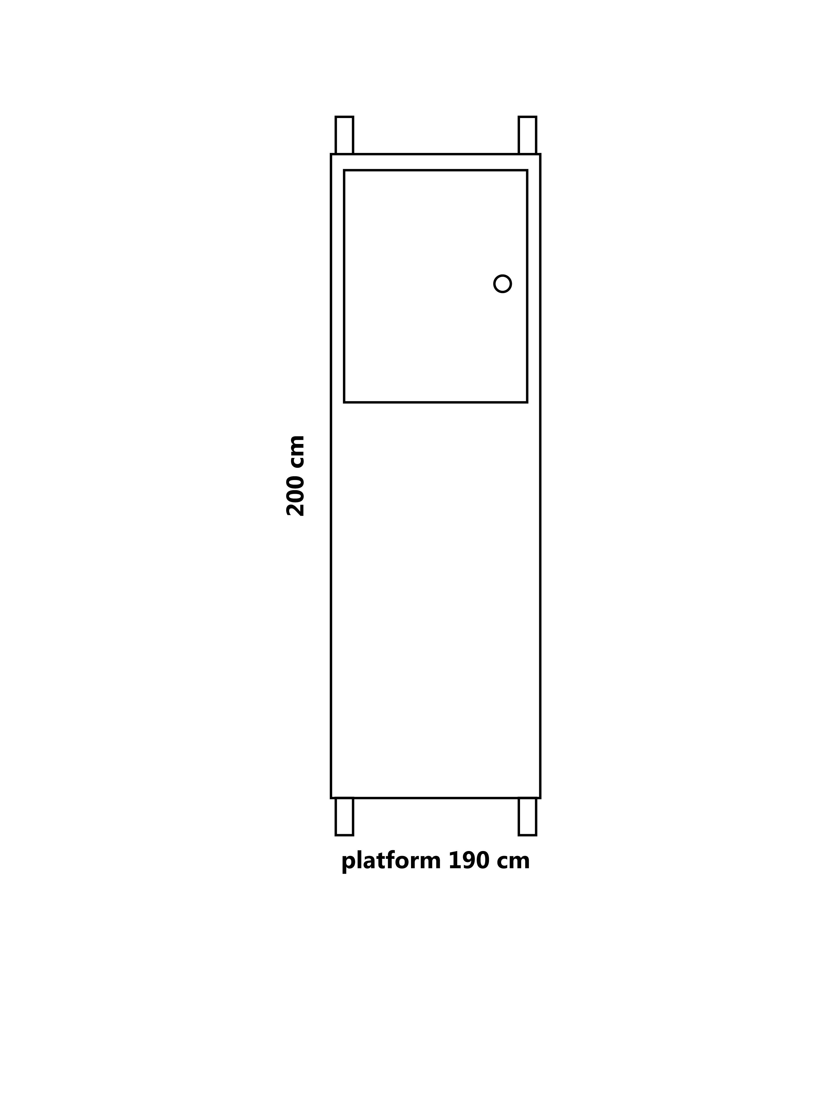 Steiger platform 190 cm