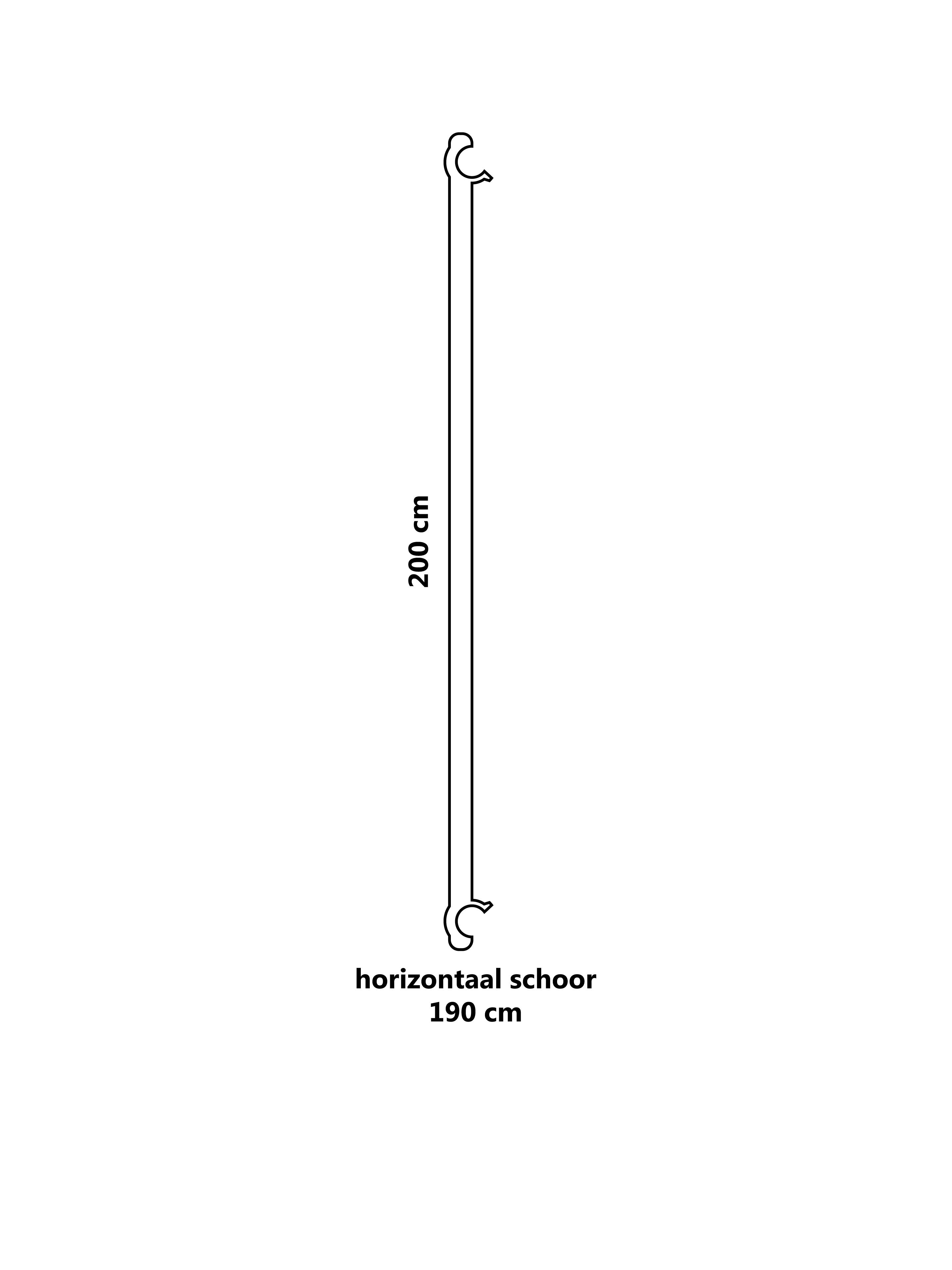 Steiger horizontaal schoor 190 cm