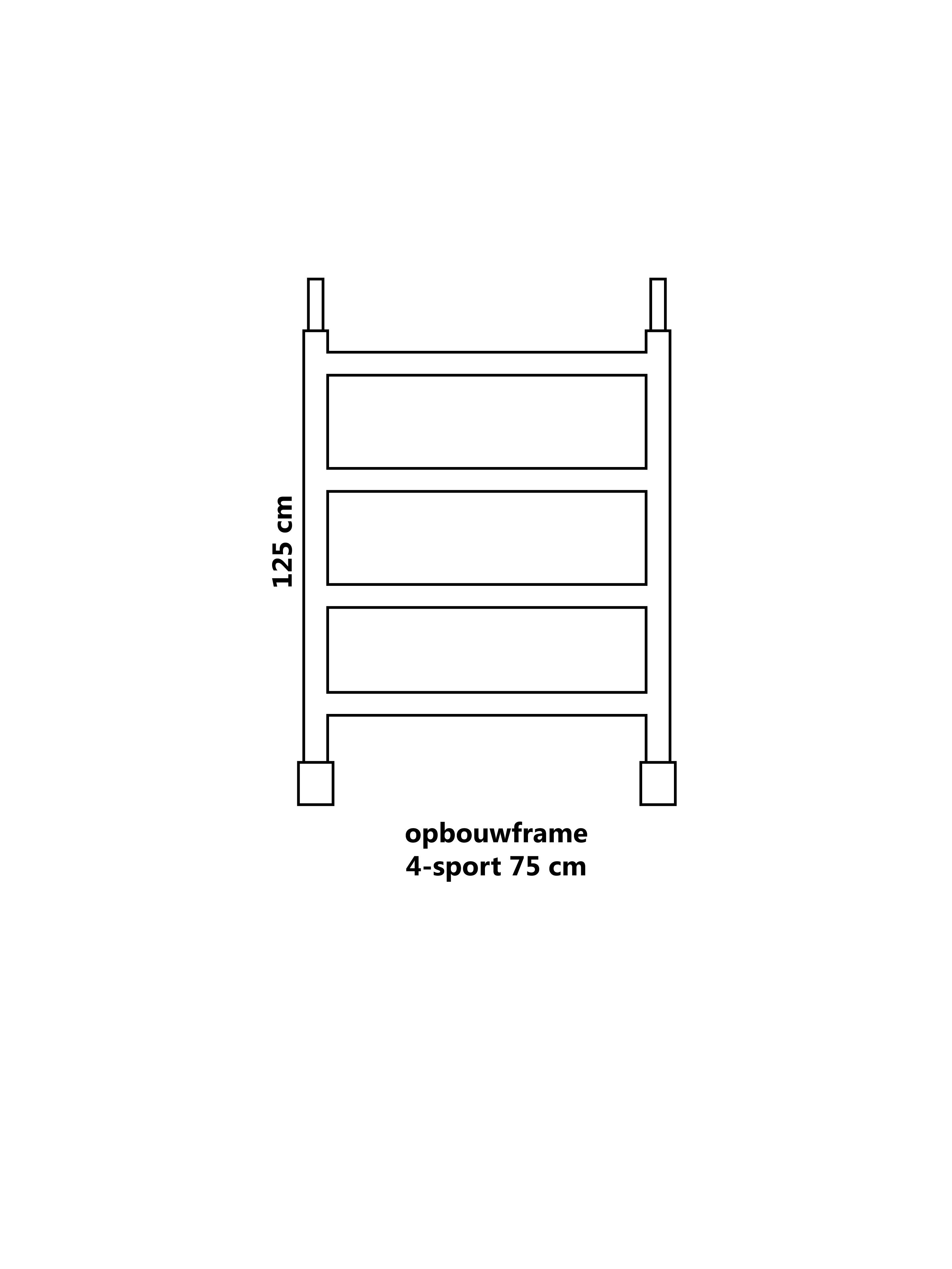 Steiger opbouwframe 4-sport 75 cm
